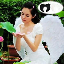 Fashion Feather Wings Angel Fairy Fancy Dress Costume Halloween Party Favor WB