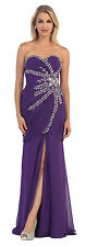 Plus Size Prom Dresses Long Strapless Sequins Chiffon Corset Back Formal Gown