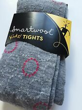 Smartwool Kids Tights Merino Wool Whirlgig Girls Gray Tights Size Small XS