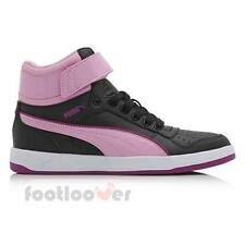 Scarpe Puma Liza Mid Jr 361471 01 Black Sneakers Girl Leather Black Pink