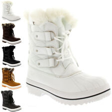 Womens Snow Boot Nylon Short Fur Rain Winter Quilted Snow Warm Boots US 5-10