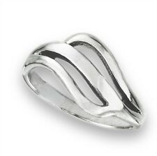Open Style Wavy Band Fashion Ring Jewelry Sterling Silver 925 Size 4-8