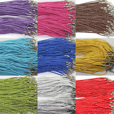 10PC Faux Leather Braid Rope Hemp Cord Lobster Clasp Chain Necklace Jewelry 46cm