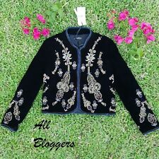 ZARA �� NEW AW16 BLACK EMBROIDERED JACKET �� SIZE S M L  �� Ref 6895/242