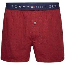 Tommy Hilfiger Mens Icon Foulard Traditional Loose Fit Woven Boxer Short Rhubarb