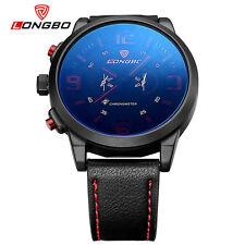 LONGBO Mens Sports Leather Quartz Watches Analog Calendar Wrist Watches 80192