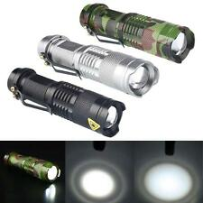 CREE T6 LED Mini Flashlight Clip AA Camo Light Super Lighting 3Modes Torch