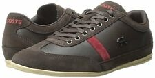 Men's Shoes Lacoste Misano 22 Leather Sneakers 7-29SRM2146176 Dark Brown *New*