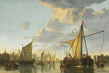 "Aelbert Cuyp : ""The Maas at Dordrecht"" (c.1650) — Giclee Fine Art Print"