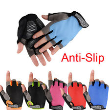 New Cycling Gloves Bike Bicycle Gel Shockproof Half Finger Sunscreen Antiskid