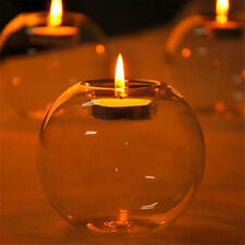 Romantic Crystal Glass Candle Holder Wedding  Party Dinner Decor Candlestick  SH