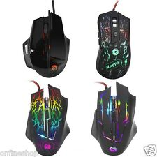 4000 DPI 8D Buttons LED Light Wired Optical Gaming Mouse Mice For PC Laptop New