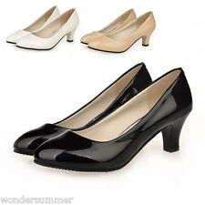 Fashion Women Pointed-toe Wear to Work Kitten High Heels Pumps Court Party Shoes