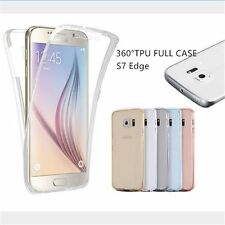 360 Full Body Shockproof Clear Soft TPU Case Cover For Samsung Galaxy S7 S7 Edge
