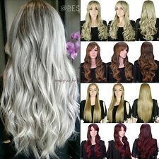 Elegant Hair Wigs Long Curly Straight Full Wig Cosplay Party Daily Fancy Dress F