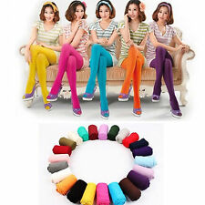 Fashion Candy Colors Opaque Footed Socks Tights Slim Pantyhose Stockings Women