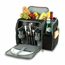 Picnic Time Polyester Malibu Insulated Cooler Picnic Tote, Service for 2