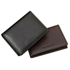 Men's Leather Wallet Bifold Money Clip Credit ID Card Holder Mini Purse New