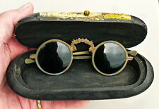 Antique vintage hand made CHINESE SPECTACLES SUNGLASSES with Case