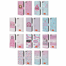 OFFICIAL EMOJI PASTEL SASS LEATHER BOOK WALLET CASE FOR APPLE iPOD TOUCH MP3