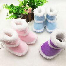Toddler Baby Girls Winter Warm Snow Boots Faux Fur Booties Soft Sole Crib Shoes