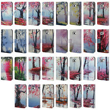 OFFICIAL GRAHAM GERCKEN TREES LEATHER BOOK WALLET CASE FOR SAMSUNG PHONES 2