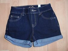 NWT GIRLS JUSTICE SZ 8, 12, 14 DARK DENIM SHORTS U PICK!