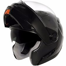 Hawk ST-1198 Gloss Black  Modular Dual Visor Full Face Motorcycle Helmet