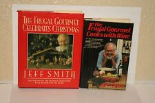 2 THE FRUGAL GOURMET-COOKS WITH WINE & CELEBRATES CHRISTMAS-COOKBOOKS-HC/DJ-NICE