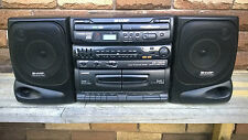 SHARP Portable CD Stereo System Double CD Player / Double Tape Recorder / Tuner