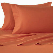 600TC Egyptian Cotton Queen SHEET SET Sateen Solid Orange