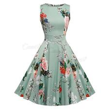 Womens 1950s 60s Vintage Dress Rockabilly Style Cocktail Party Swing Dresses UK
