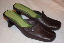 REACTION Kenneth Cole - sz 6.5 - Tip Top // Brown Leather MULES Slip On Shoes