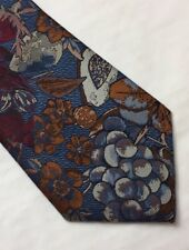 SANS RIVAL PLANTS & FRUITS POLYESTER TIE MADE IN ENGLAND