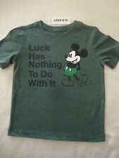 OLD NAVY/ DISNEY MICKEY MOUSE ST PATRICKS DAY TEE SHIRT NWTS