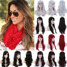 Full Head Wig Long Curly Straight Cosplay Costume Party Fancy Dress UK Best Wigs