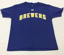 MLB Majestic Boys Milwaukee Brewers Prince Fielder #28 Name & Number T-Shirt