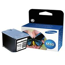 GENUINE OEM SAMSUNG M40 BLACK PRINTER INK CARTRIDGE (INK-M40/ELS)