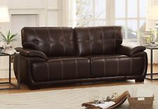 Transitional Style 2Pc Dark Brown Sofa Loveseat Set Living Room Furniture Couch