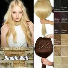 Deluxe Thick 200G+ Clip in Remy Human Hair Extensions Double Weft Full Head U687