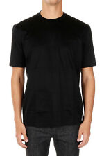 LANVIN New Men black Cotton Jersey Round Neck Tee T-shirt Made in Italy