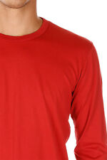 DOLCE&GABBANA New Men red long sleeve tee t-shirt cotton round neck made italy