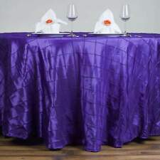 120 in. Pintuck Round Tablecloth Wedding Party Banquet Restaurant