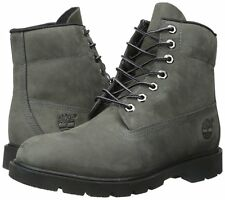 Men's Shoes Timberland 6 Inch Basic Waterproof Boots A111F Grey Nubuck *New*