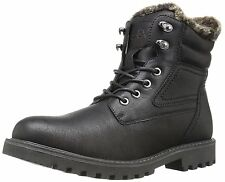 GBX LORCAN Mens Black Lace Up Warm Lined Winter Snow Boots