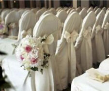 200 Polyester Banquet Chair Covers Wedding Reception Party Decorations 3 Colors!
