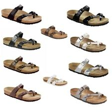 Birkenstock Mayari Womens Mens Thongs Slides Sandals Birko-Flor Leather Shoes