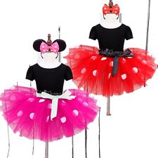 Baby Girl Kids Mickey Minnie Mouse Tutu Skirt Fancy Dress Princess Party Costume