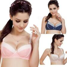 Women Cotton Maternity Nursing Bra Breastfeeding Pregnant Drop Clip  Bra 3/4Cup