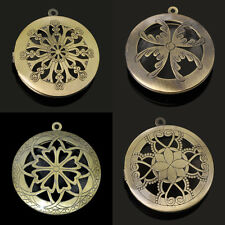 Lots New Brass Photo Locket Pendants Frame Charms Necklaces Findings Jewelry DIY